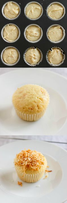 Toasted Coconut Cupcakes with Coconut Glaze | #dessert #cupcakes #glaze #coconut | http://thecookiewriter.com