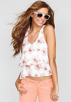 This Floral Layered Tank is perfect for summertime! Super cute!