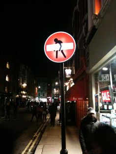 Traffic sign in Soho London. Down In New Orleans, Free Haircut, Weekend Offender, Sign Language Interpreter, Traffic Sign, British Invasion, Letter I, Place Names, Martin Freeman