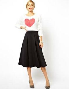 18199d4ba49ae ASOS Midi Skirt with Full Pleats