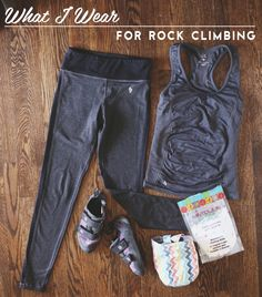 A few people have been asking what I wear when I work out/ rock climb, so I thought I'd share that with you guys! I mostly try to find work out gear at thrift stores because you can sometimes find some gems in there hidden among other, less desirable items. I found the Patagonia sports bra in the
