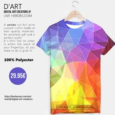 #colorful #rainbow #abstract #art #stylish #geometry #polygons #polychromatic #colors #triangles #mesh #grid #lines #modern #tshirt #unisex #liveheroes #liveheroesshop #digitalartcreations