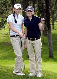 Mandy and Haley Parsons (women's golf team) Used Golf Clubs, Freshman Year, Twins, Two By Two, Women, Freshman, Career, Gemini, Twin