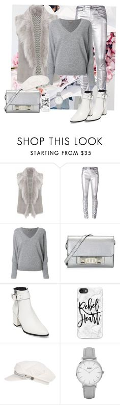 """""""Silver"""" by chrissy-50 ❤ liked on Polyvore featuring Gushlow & Cole, Étoile Isabel Marant, N.Peal, Proenza Schouler, Steve Madden, Casetify, Brixton and CLUSE"""