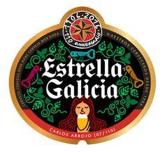 Carlos Arrojo - The Mushroom Company - Estrella Galicia label Porsche Logo, Old School, Stuffed Mushrooms, Illustration Art, Branding, Logos, Instagram Posts, Beer Labels, Camping