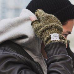 Ragg Wool Fingerless Gloves by Upstate Stock