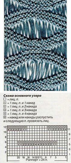 вязание спицами узоров со спущенными петлями: 21 тыс изображений найдено в Яндекс.Картинках