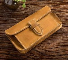 Handmade Thread Italian Genuine Leather Top Layler Cowhide Wallet High Quality Purse Withe Zipper