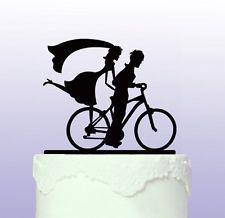 Bici Bicicleta-Acrílico Wedding Cake Topper