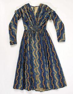 1840 American child's cotton dress