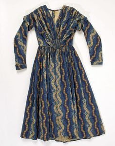 1840 American child's cotton dress