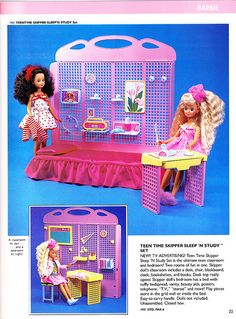 Teen Time Skipper Sleep 'n Study Playset by Mattel, 1988
