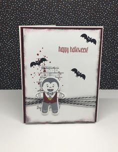 Ditjes en datjes Halloween Art, Stampin Up, Happy, Holiday, Cards, Vacations, Halloween Crafts, Stamping Up, Ser Feliz