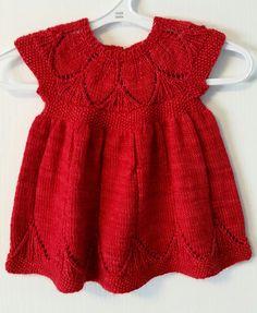 Ravelry: Project Gallery for Clara pattern by Karin Vestergaard Mathiesen Baby Sweater Knitting Pattern, Baby Knitting Patterns, Knitting Designs, Baby Patterns, Baby Vest, Baby Cardigan, Girls Knitted Dress, Big Knit Blanket, Baby Dress Design