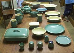 Vintage Denby is turquoise.... classic.