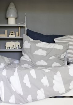mommo design: IN THE CLOUDS....bedding