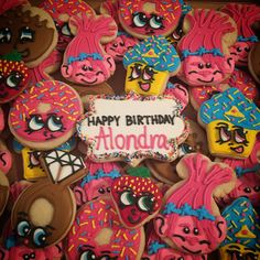 Troll and Shopkins Decorated Sugar Cookies