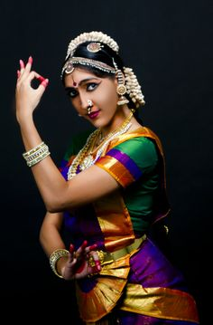South Indian Classical Dancer Never noticed how colourful they are