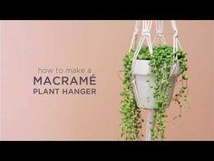 DIY | 5 Minute Macrame Planters - YouTube