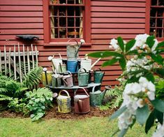 Sammlung von Giesskannen - Garten Deko