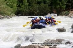 White-water rafting in Morocco