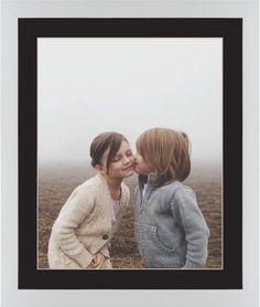 Photo Gallery Framed Print, White, Contemporary, Cream, Black, Single piece, 16 x 20 inches