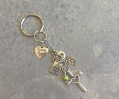 Religious Key Ring OR Zipper Pull Personalized от IsleOfCraftin