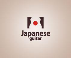 """""""Japanese guitar """" - логотип для магазина, занимающегося продажей японских гитар. Дизайнер - Ольга Шу. #логотип #япония #гитара #guitar #japan #shop #negativespace #logo #лого #дизайн #design #logodesign #logotype #tailroom #inspiration #солнце #sun"""