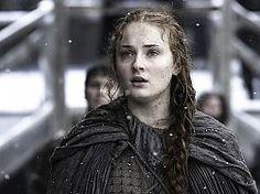 Juego de Tronos, programa de televisión, chica, Sansa Stark, Sophie Turner, nieve