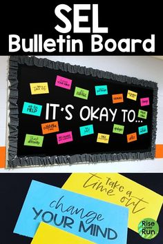 This SEL bulletin board is easy to create and spreads a great message. Guidance Bulletin Boards, Counselor Bulletin Boards, Hallway Bulletin Boards, Elementary Bulletin Boards, Back To School Bulletin Boards, Decorative Bulletin Boards, Newspaper Bulletin Board, Bulletin Board Boarders, Christmas Library Bulletin Boards