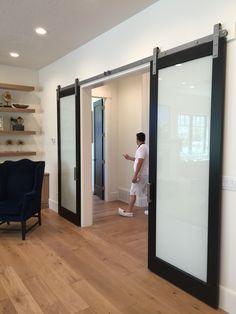 Contemporary barn door