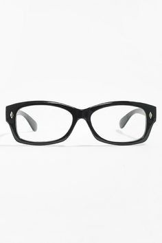 fdf42b546c  Aberdeen  Skinny Squared Clear Glasses - Black - 1063-2 Fake Glasses