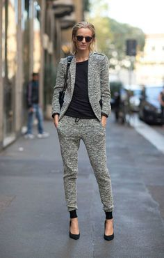 sweat / suit. great mix of relaxed but tailored.