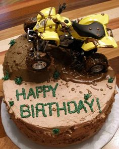 4 Wheeler Birthday Cake  on Cake Central