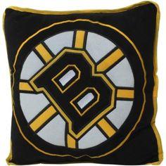 Boston Bruins Big Logo Fleece Pillow - Black