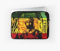 'Rasta Haile Selassie Natural Mystic Lion of Judah' Laptop Sleeve by rastaseed
