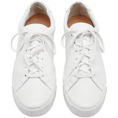 Loeffler Randall Women's Logan Tassel Leather Sneakers (940 BRL) ❤ liked on Polyvore featuring shoes, sneakers, white lace up shoes, leather sneakers, lacing sneakers, lace up shoes and leather lace up shoes