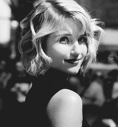 Love this b/w photo of Dianna Agron