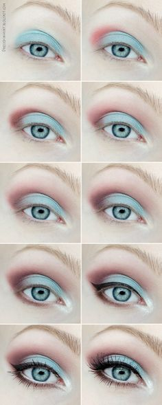 Dressed in Mint: make up. - Spring Laguna (step by step)