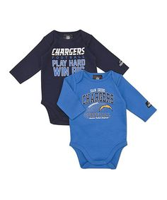 Take a look at this San Diego Chargers Long-Sleeve Bodysuit Set - Infant by NFL on #zulily today!