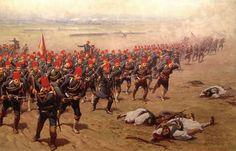 Ottoman Infantry advance. Russo-Turkish War, 1877.