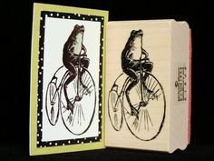 Hey, I found this really awesome Etsy listing at http://www.etsy.com/listing/77212829/frog-on-a-bike-rubber-stamp
