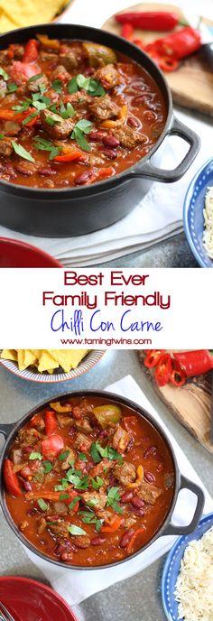 Chilli Con Carne Recipe, Chilli Recipes, Meat Recipes, Slow Cooker Recipes, Mexican Food Recipes, Cooking Recipes, Healthy Recipes, Homemade Chilli Con Carne, Slow Cooking