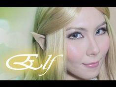 Elf makeup & Easy Elf Ears tutorial.  Making ears from skin toned surgical tape