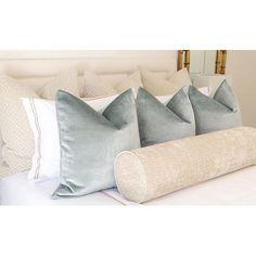Pillows by littledesignco Master Bedroom Design, Dream Bedroom, Home Decor Bedroom, Up House, Luxurious Bedrooms, Bed Pillows, Bed Linens, Bolster Pillow, Velvet Pillows
