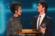 Ian Somerhalder & Nina Dobrev win People's Choice for Favorite On-Screen...