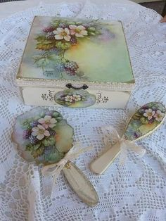 Сюжет Sonie Ames Decoupage Wood, Decoupage Vintage, Creative Crafts, Diy And Crafts, Paper Crafts, China Painting, Painting On Wood, Tole Painting, Pretty Box