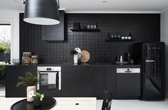Black Kitchen inspiration. Nord House in Australia is a Scandi style weekend getaway just outside Melbourne designed by Poss Samperi of Orchard Keepers on the Mornington Peninsula.
