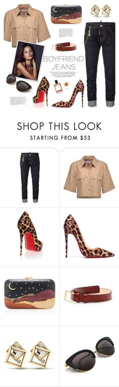 """""""Just chic - Boyfriend jeans"""" by edita1 on Polyvore featuring Dsquared2, Equipment, Christian Louboutin, Silvia Furmanovich, ANNA and boyfriendjeans"""