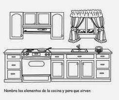 Maestra de Primaria: Muebles y objetos de la casa para colorear